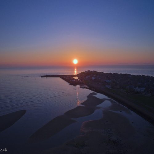 drone moray sunset aerial photography