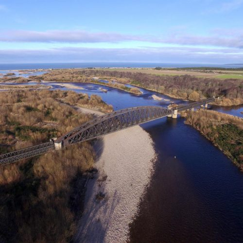Aerial Filming Garmouth Spey Viaduct