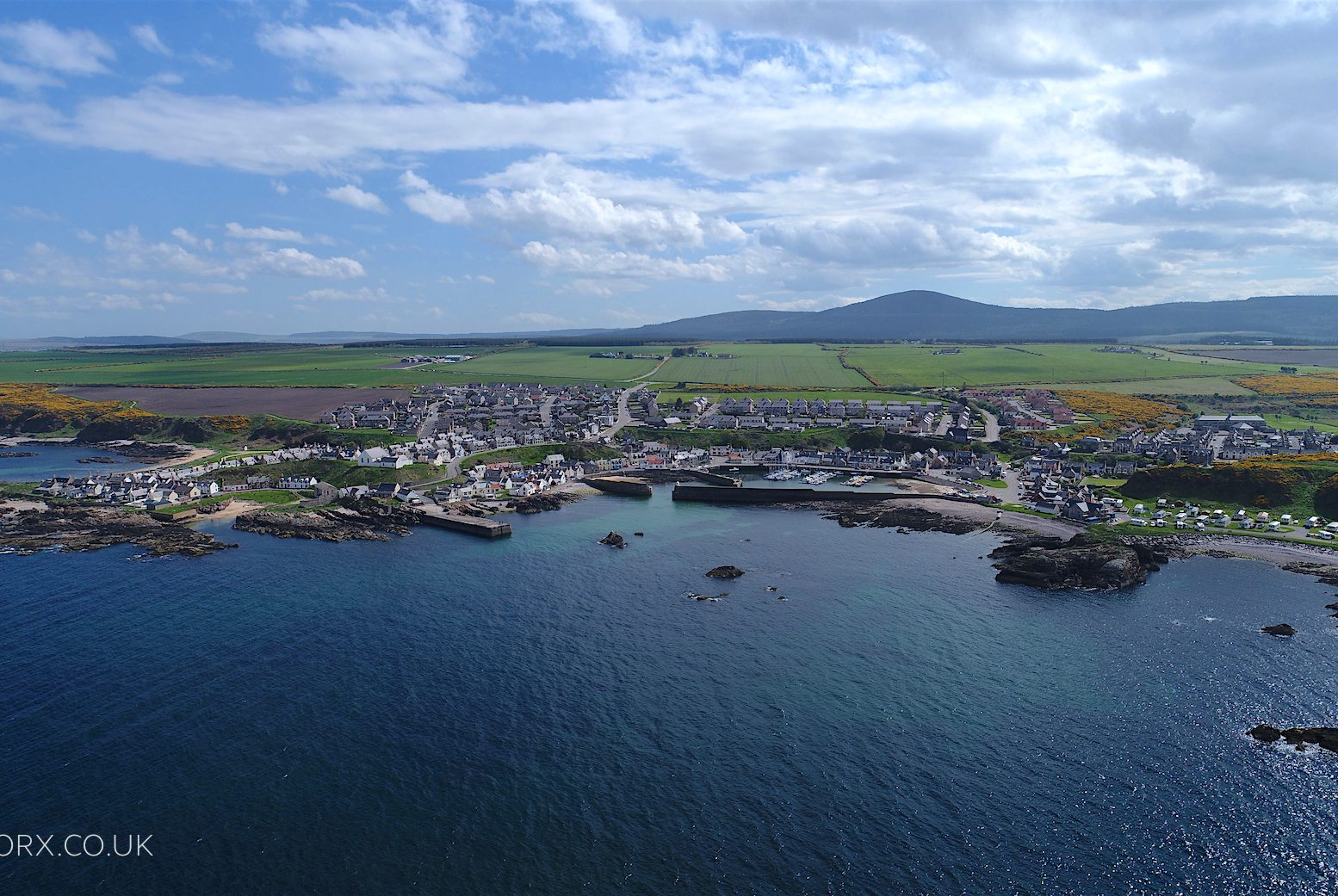 Findochty, Moray aerial photography