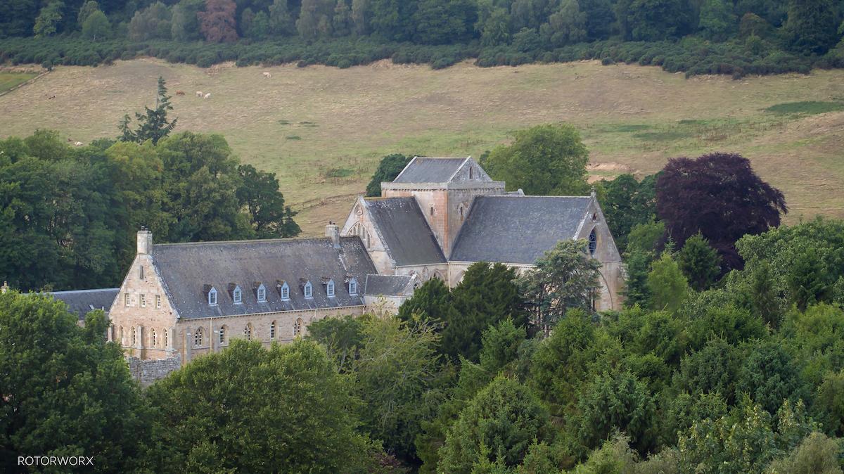 drone pluscarden abbey moray elgin