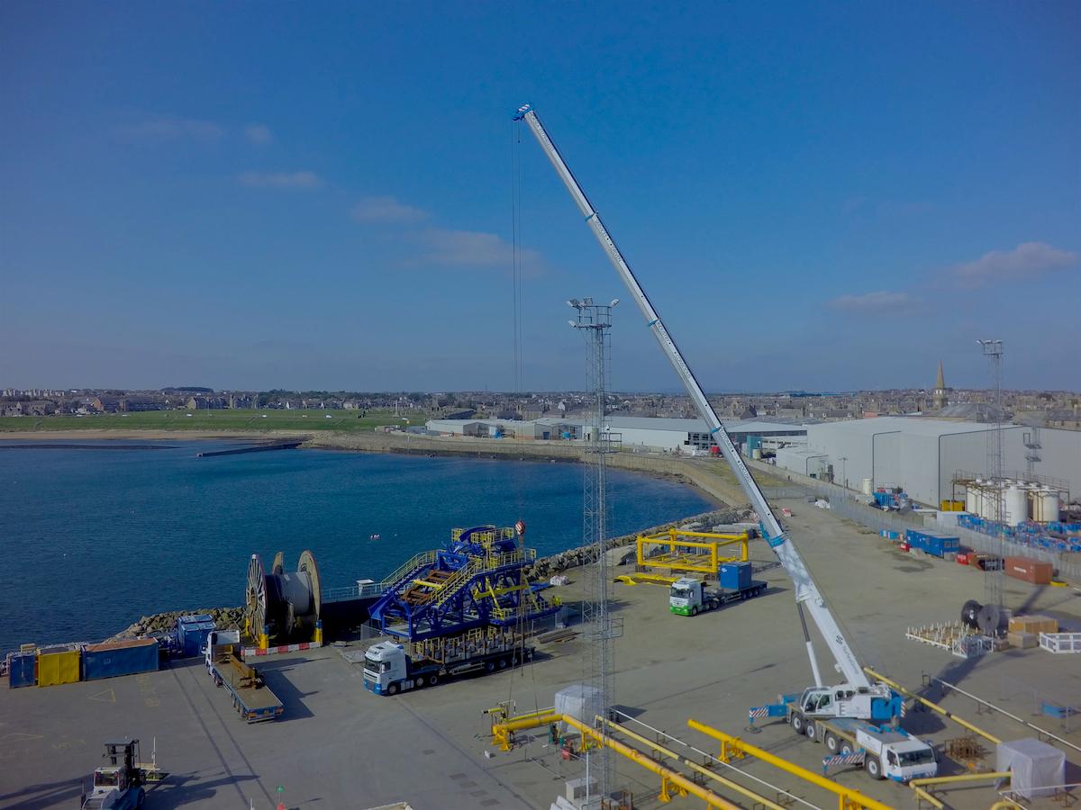 Aerial Drone Peterhead harbour